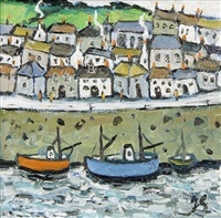 cornish harbour by joan gillchrest