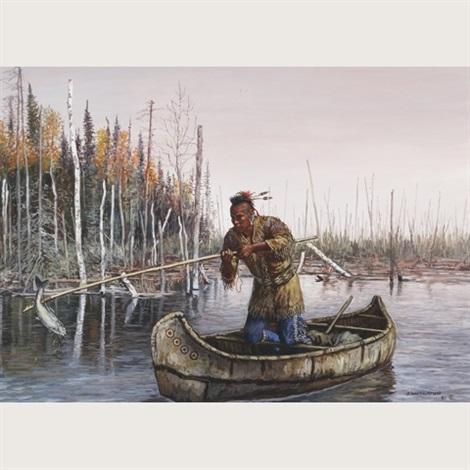 travelling odjibway family ottawa fisherman pair by hubert wackermann
