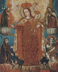 the madonna and child in glory by peruvian school-cuzco (19)