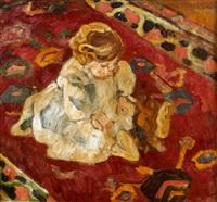 l'enfant au tapis by louis valtat
