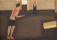 trzy dziewczyny z trumną by jerzy nowosielski