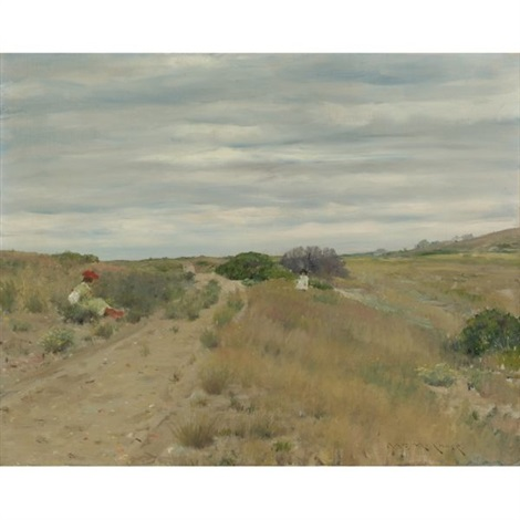 the old sand road by william merritt chase