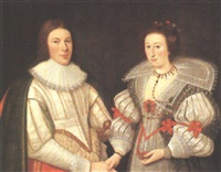 portrait of a gentleman and his wife (sir thomas williamson 1st bt. and jane hussey?) by adam de colone