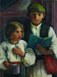 zwei kinder by grete csaky-copony