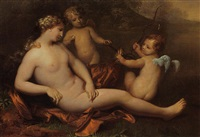 two putti offering venus a symbol of fertility by hendrik van limborch