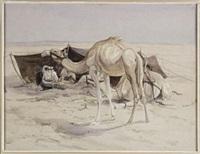 bedouin encampment by edwin john alexander