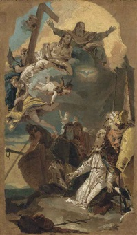 the holy trinity appearing to saint clement by giovanni battista tiepolo