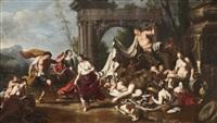 danse de satyres (+ de nymphes et bacchanale; pair) by johann heiss