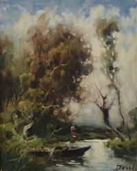 paesaggio autunnale con figura by ivan karpov