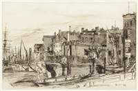 thames police (wapping wharf) by james abbott mcneill whistler