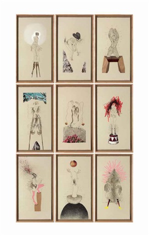 the original nine daughters in 9 parts by wangechi mutu