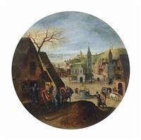 le mois de décembre: marie devant l'auberge by abel grimmer