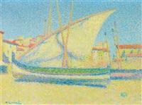 barques et voiliers a collioures by achille laugé