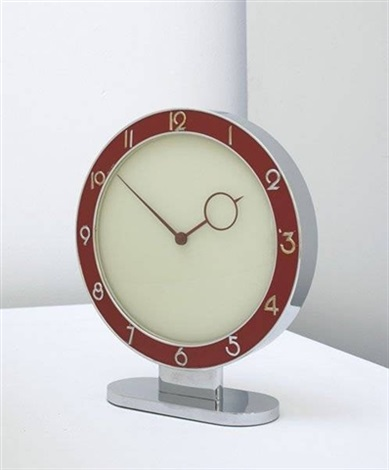 table clock by heinrich möller