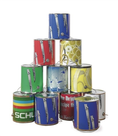 paint cans (from dear ketel one drinker hello again; in 12 parts) by kelley walker and wade guyton