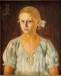 portret dziewczynki by jan gotard