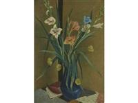 flowers in vase by preston dickinson