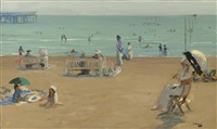 the bathing hour, lido, venice by john lavery
