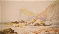 rocky coastline by albert bierstadt