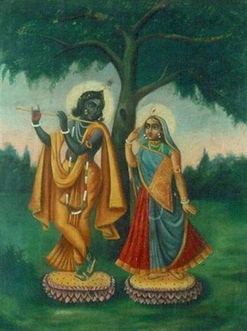 radha krishna by indian school bengal 19