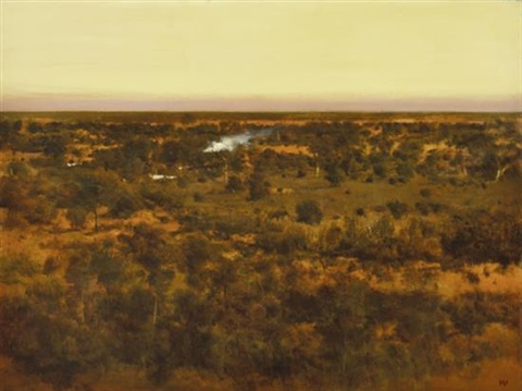 landscape at dusk by bryan westwood
