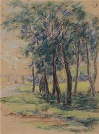 bord de rivière aux arbres (pair) by armand guillaumin