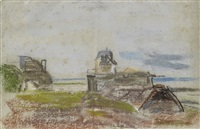 village en bord de mer by eugène boudin