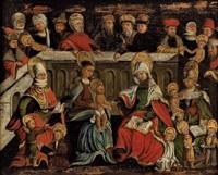 die heilige sippe mit lateinischen unterschriften zu den einzelgestalten by danube school (16)