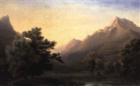 a view of 'la dent du midi' by jean bryner