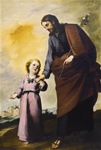 saint joseph with the christ child by bartolomé esteban murillo