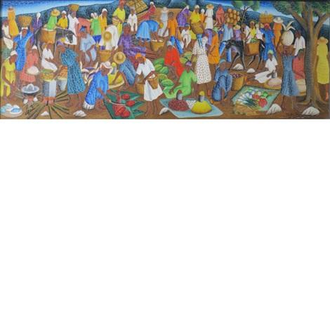 haitian market by castera bazile