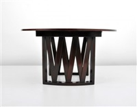 dining table with one 15 leaf by paul t. frankl