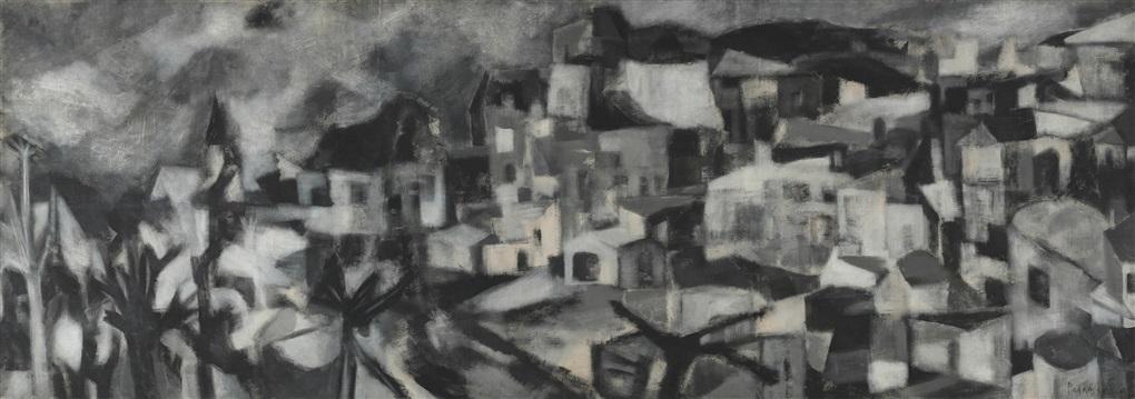 Greek Landscape by Akbar Padamsee on artnet