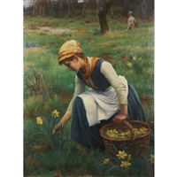 picking daffodils by william banks fortescue