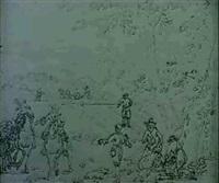 personnages dans un paysage by adam perelle