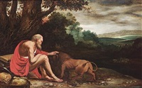 saint jerome in the wilderness by johann (hans) konig