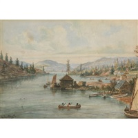 a view of shebanwanning - killarney, ontario by william wallace armstrong