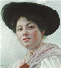 a bavarian girl by albert lenck