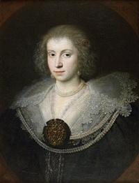 portrait de femme by gerrit van honthorst