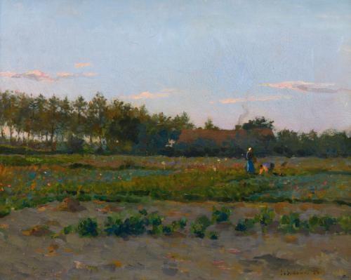 champ de coqueliquots by henri le sidaner