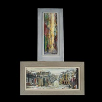street scene & alleyway (2 works) by pascal cucaro