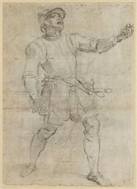 etude de soldat et etude d'homme (recto-verso) by andrea di leone