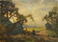 country landscape by nikolai vladimirovich remizov