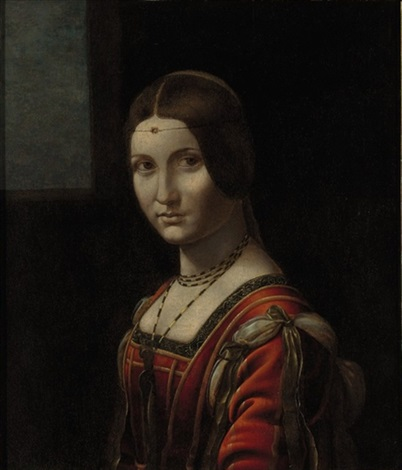 portrait of a lady called la belle ferronnière by leonardo da vinci