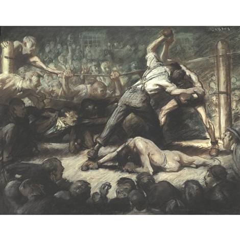 the knock out by george wesley bellows
