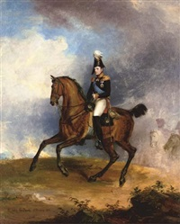 portrait of grand duke nicholas, later emperor nicholas i, on horseback by george dawe