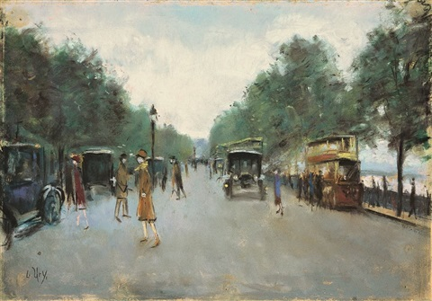 Victoria Embankment London By Lesser Ury On Artnet