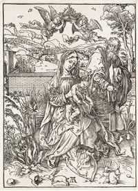 the holy family with the three hares by albrecht dürer