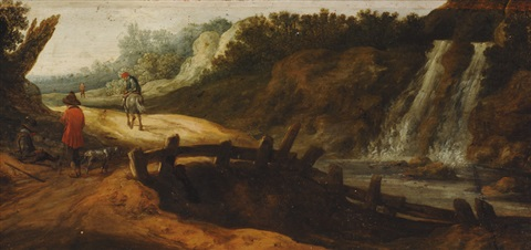 footpath along the waterfall by pieter jansz van asch