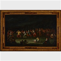 village celebration dance and merrymakers at night by david teniers the younger